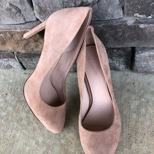 A•D & daughters Pink Suede Pumps Rtl:$159 Mint